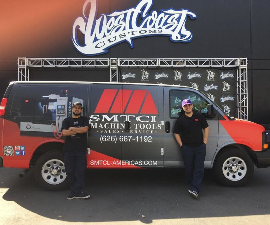 SMTCL service van by West Coast Customs