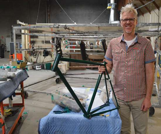 Jefferson McCarley, owner Mission Bicycle Co.