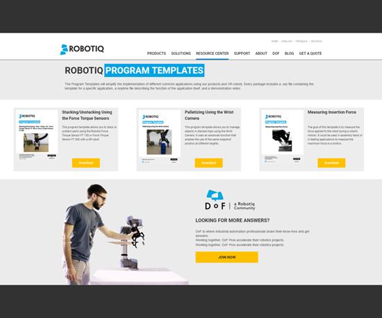 Robotiq templates