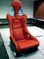 Carbon fiber Porsche seat