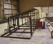 steel support frame