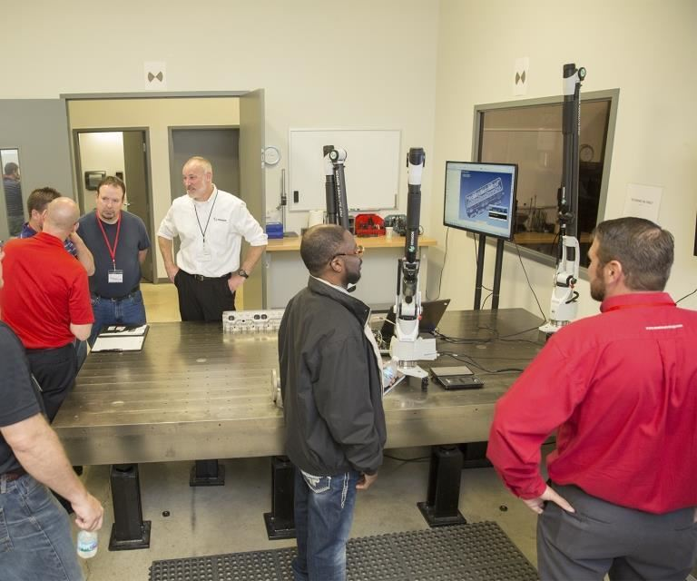 Wisconsin open house at Exact Metrology