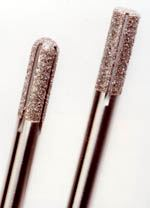 Diamond grit cutters