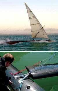 Sailrocket speed sailboat