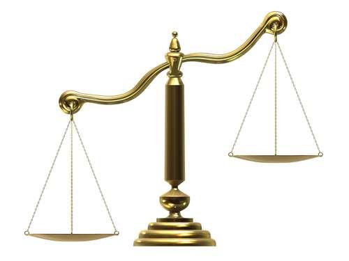 an unbalanced scale