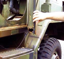 Corrosion on military ground vehicle