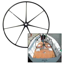 7 spoke yacht steering wheel