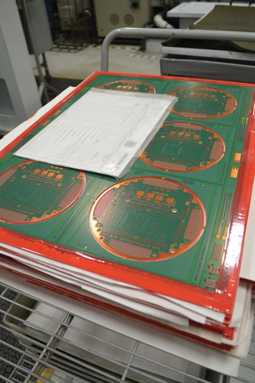 The automated line built by Uyemura allows for Bergquist to plate about 1,500 PCB panels each week.
