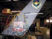 F-16 tail fin repair