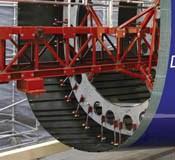 Boeing 787 fuselage close up
