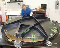 Front reflector shield mold