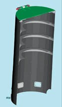 Artist's view of CRISM baffle