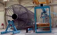 Large gantry winder