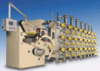 Slitting & traversing winding machine