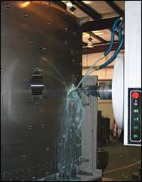 A five-axis Vanguard TH series planer-type horizontal mill