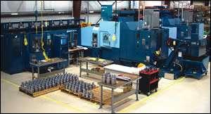 A five-axis machine