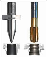 A roll-form tap can be used to thread the bushing