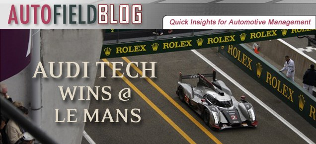 Audi Tech Wins the Le Mans