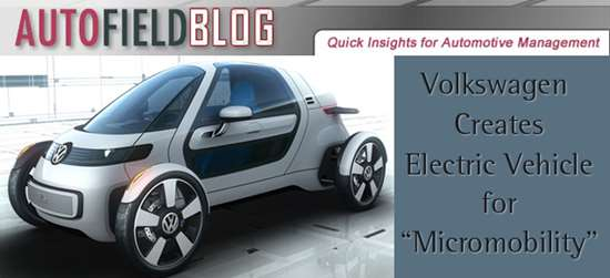 """Volkswagen Creates Electric Vehicle for """"Micromobility"""""""