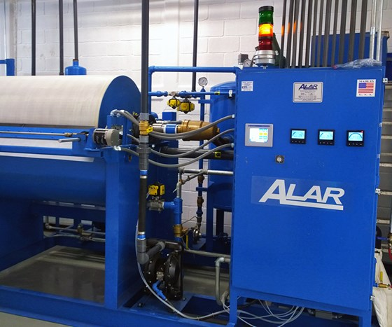 ALAR Engineering Corp. offers its Auto-Vac filter technology for removing particles from sludge.
