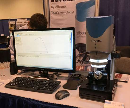 Alicona scanning measurement