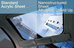 Altuglas ShieldUp retains clarity at all temperatures
