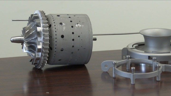 mini jet engine 3D printed by GE