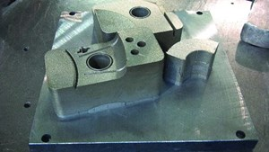 plate of tooling inserts