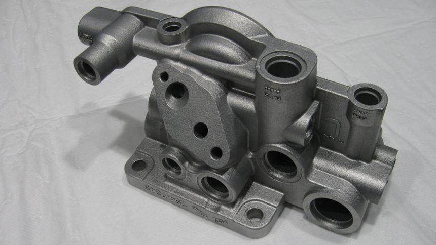 Fuel filter base.