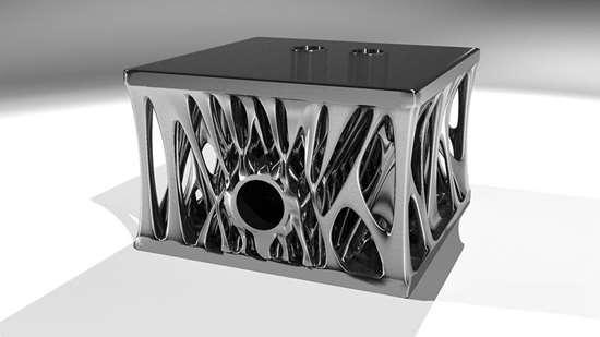 Additive manufactured engine block