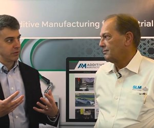 Peter Zelinski, Additive Manufacturing magazine, and James Fendrick, North American vice president for SLM Solutions