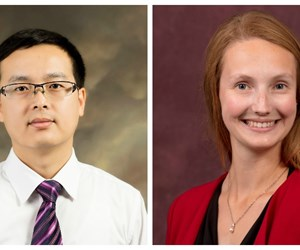 Dr. Haijun Gong and Claire Belson