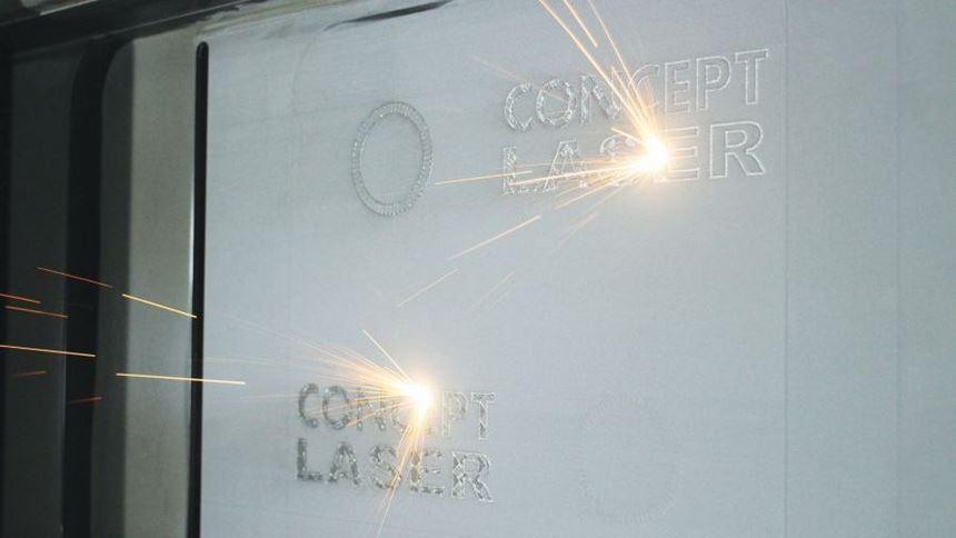M2 multilaser metal additive manufacturing machine from Concept Laser