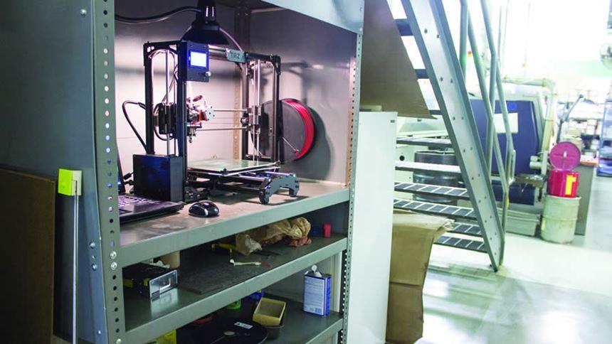 Swiss Automation's LulzBot Taz 5 3D printer