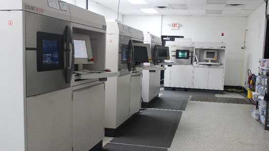 EOS DMLS machines at Linear Mold & Engineering