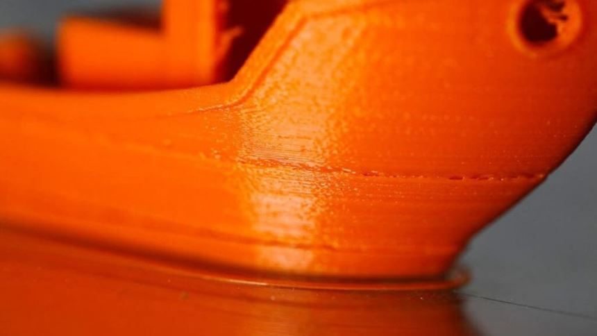 3D-printed part with layer misalignment