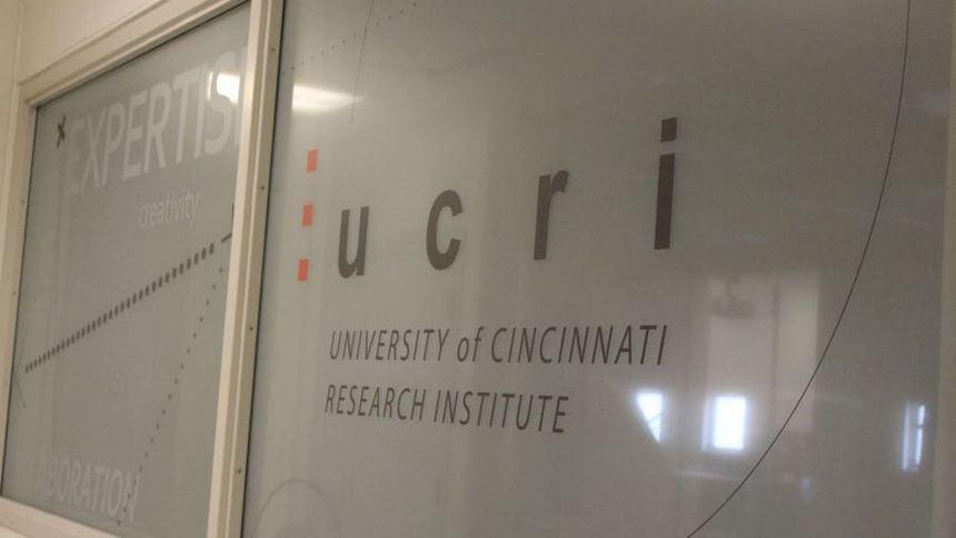UCRI logo on window