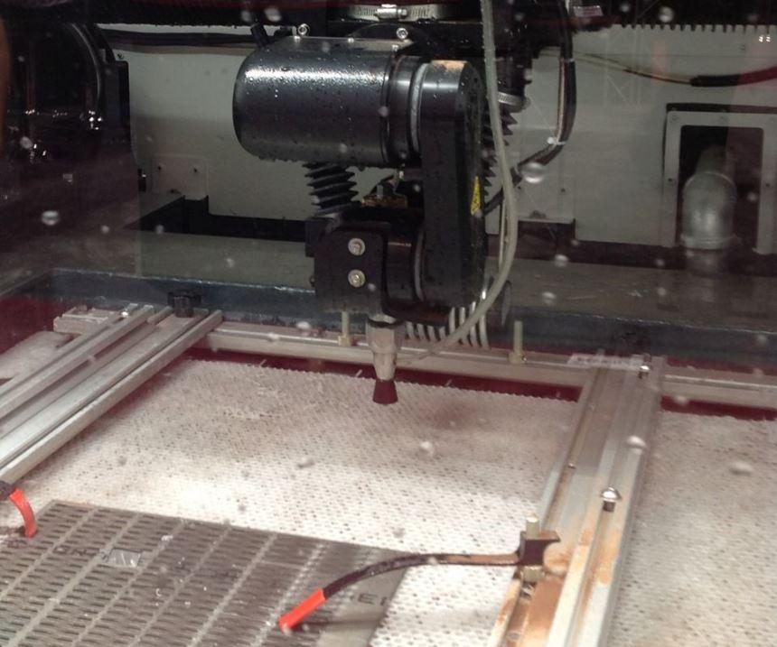 Inside Omax MicroMax abrasive waterjet