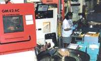 Accumulators on  Gildemeister multi-spindle automatic