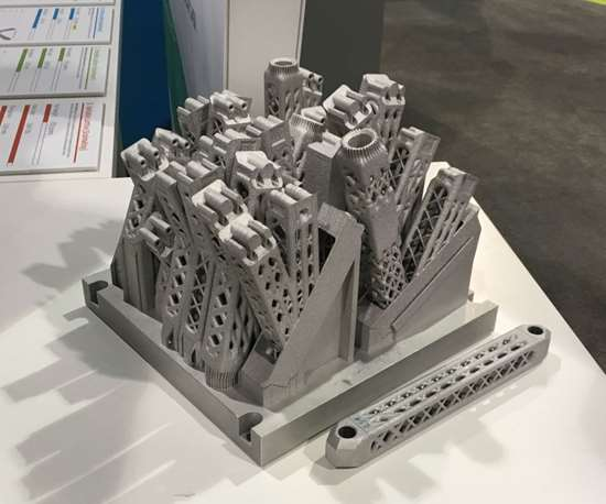 Airbus partition frame additive manufactured components