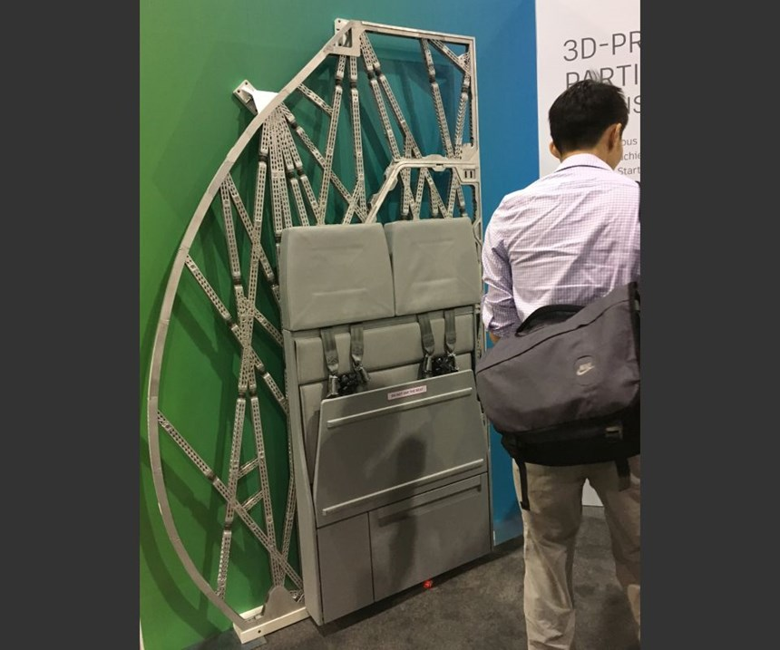 Airbus partition frame
