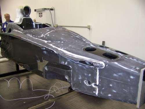 """torsion testing of car """"tubs"""""""
