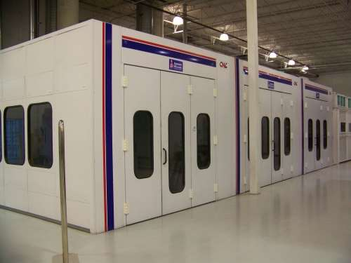 in-house spray booths