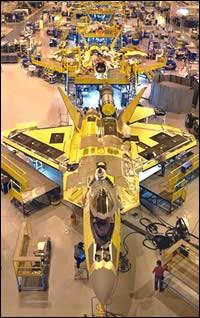 Assembly line at Lockheed