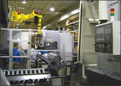 Automated oil drill coupling production cell