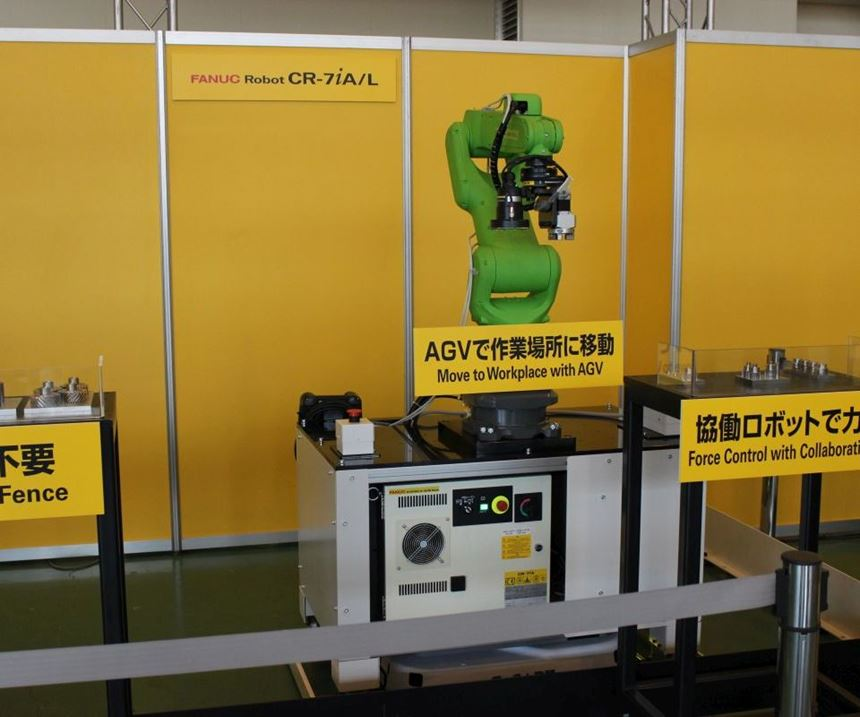 FANUC CR-7iA/L cobot on AGV
