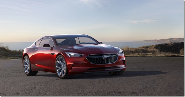 Buick Avista Concept front view shown in lacquer jewel red finish