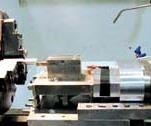B). The effect can be seen in the workpiece