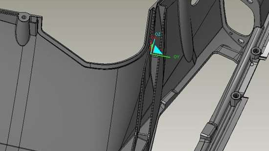 CAD image of deep rib detail