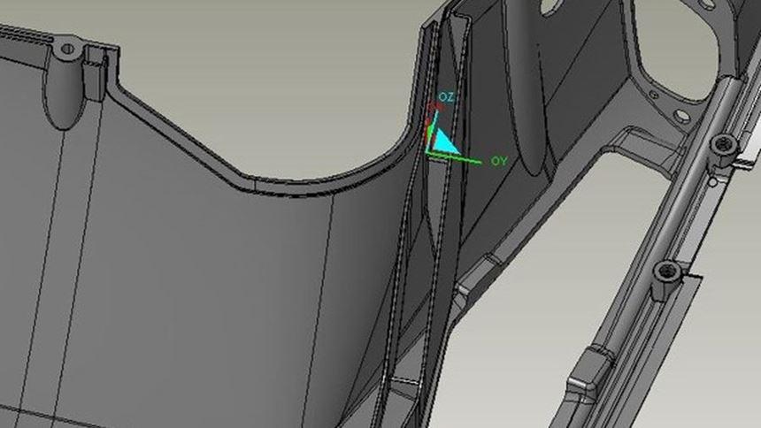 CAD image of deep rib detail